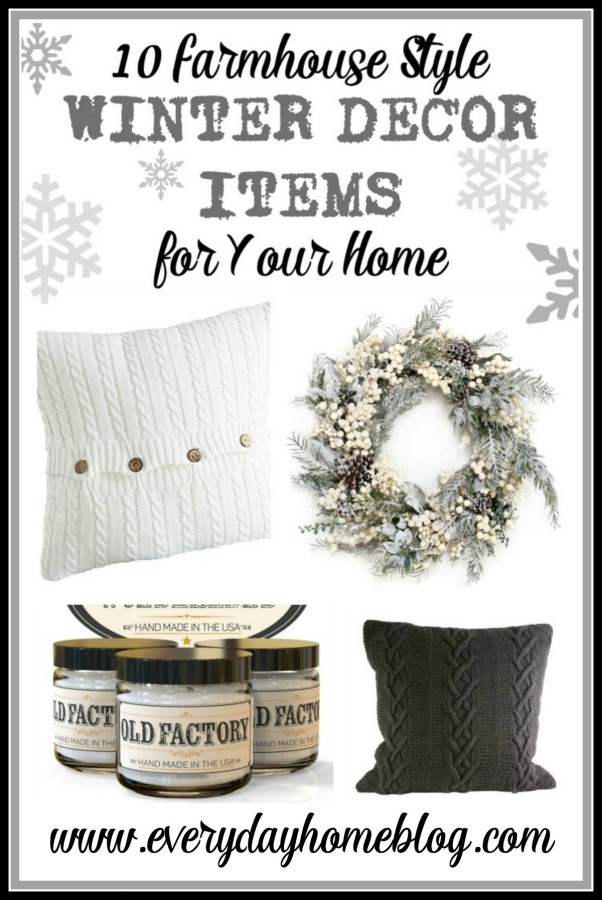 10 Farmhouse Style Winter Decor Items for Your Home   The Everyday Home   www.everydayhomeblog.com