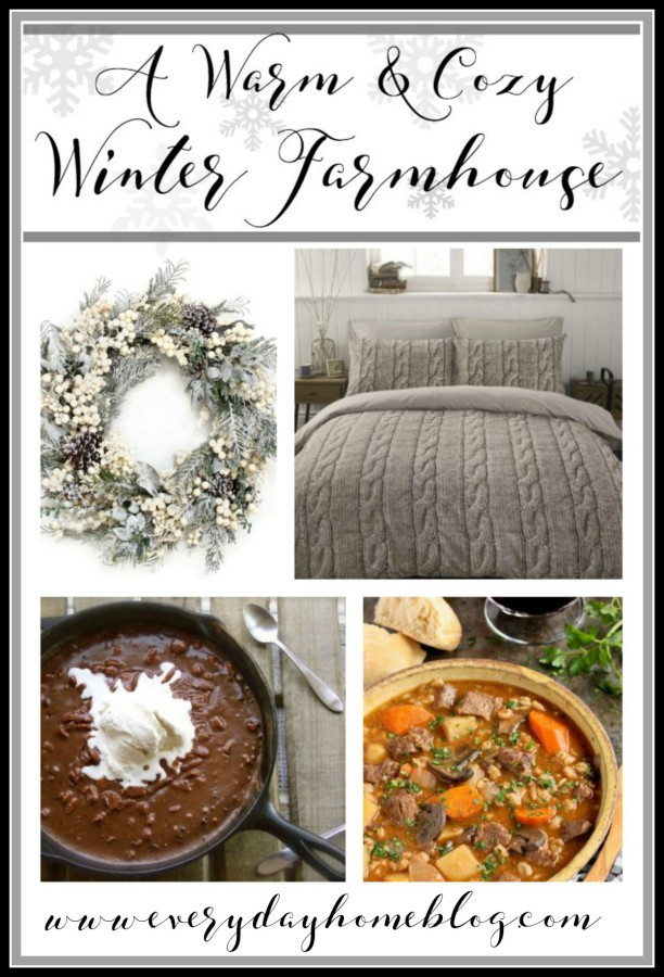 A Warm and Cozy Winter Farmhouse | The Everyday Home | www.everydayhomeblog.com