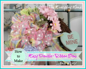 How to Make an Easy Double-Ribbon Bow