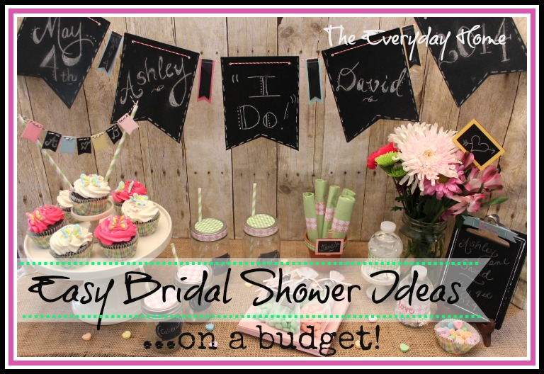 easy and budget friendly bridal shower ideas the everyday home