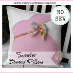 No Sew Sweater Bunny Pillow