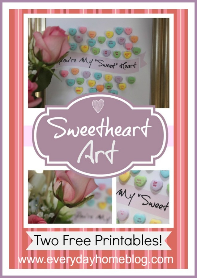 How to Create Sweetheart Art with Candy | The Everyday Home | www/everydayhomeblog.com