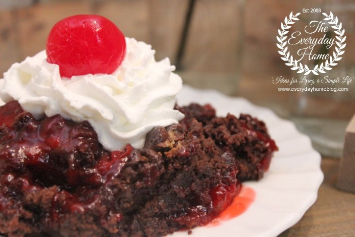 Black Forest Dump Cake by The Everyday Home #dessert #baking #dollarstore #DollarStoreChallenge #cake