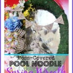 Pool Noodle Spring Wreath