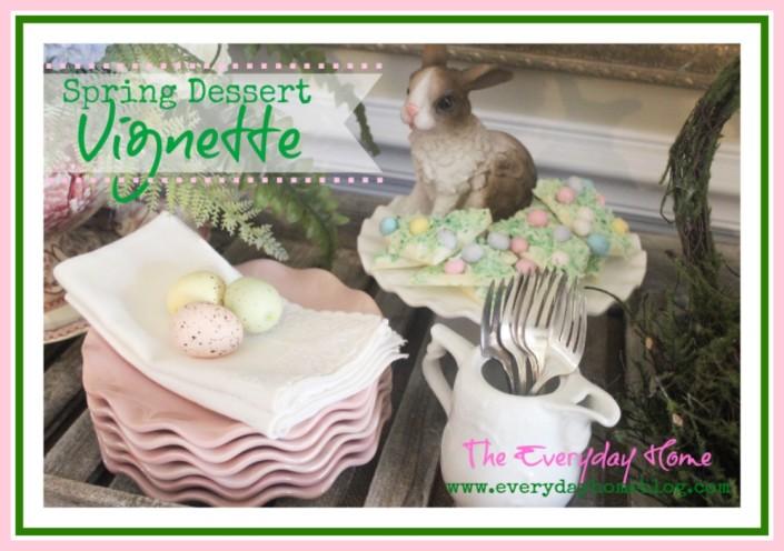 Spring Dessert Vignette