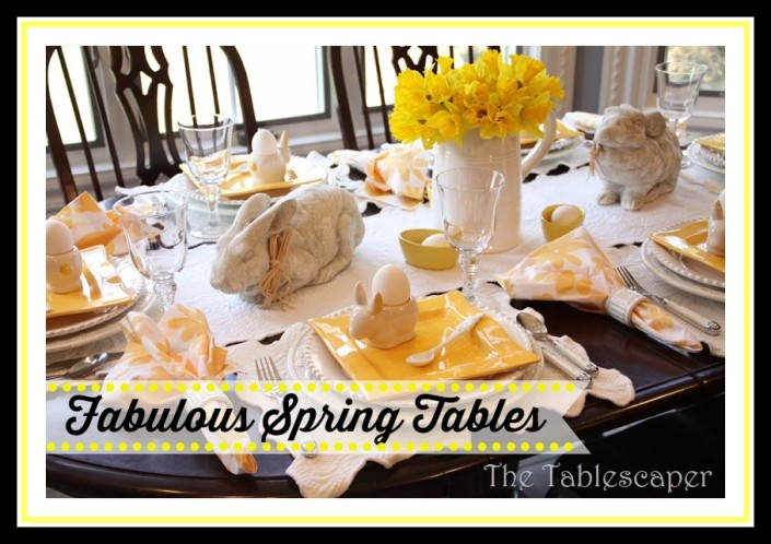 Fabulous Spring Tables - a Guest Post by The Tablescaper at The Everyday Home #spring #tablescape #dishes
