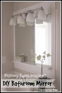 Pottery Barn-Inspired Bathroom Mirrors