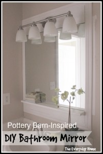 Pottery Barn-Inspired Bathroom Mirrors