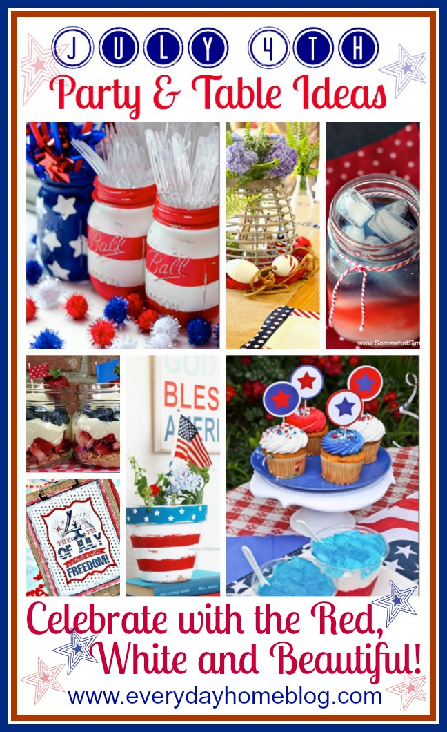 July 4th Party and Table Ideas by The Everyday Home