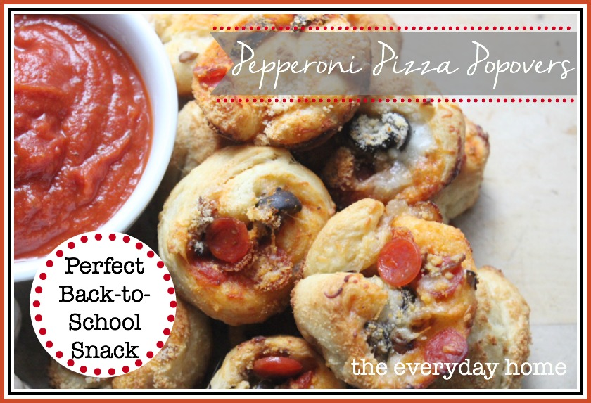 Pepperoni Pizza Popovers - The Everyday Home