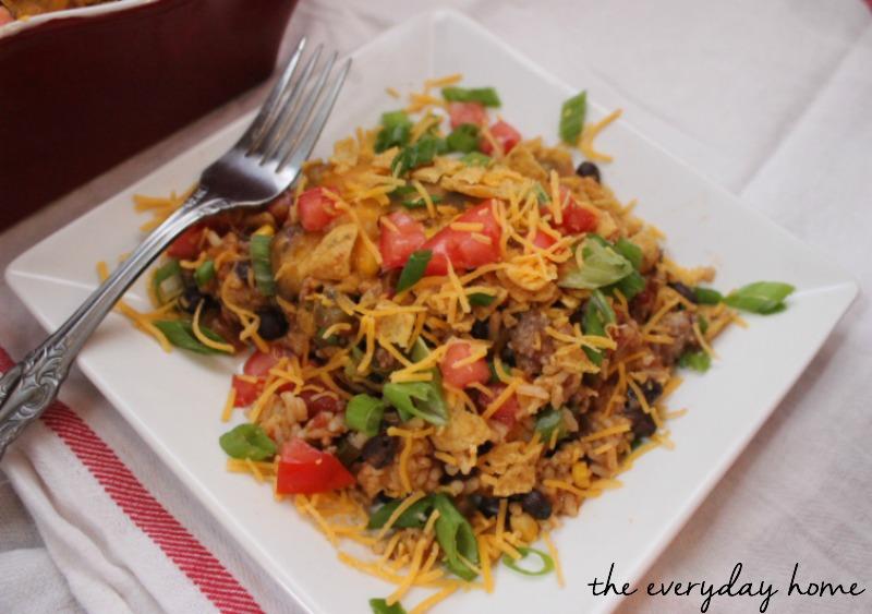 Easy Taco Casserole by The Everyday Home Blog #recipe #Casserole