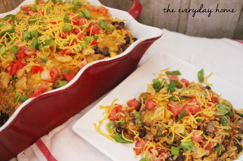 Easy Taco Casserole by The Everyday Home Blog #recipe #Casserole