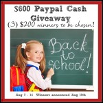 $600 Back-to-School Paypal Cash Giveaway