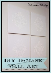DIY Damask Wall Art
