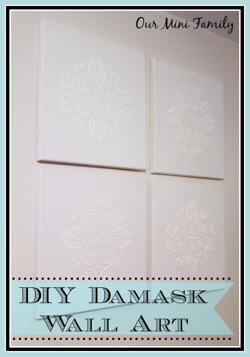 Damask Wall Art diy damask wall art - the everyday home