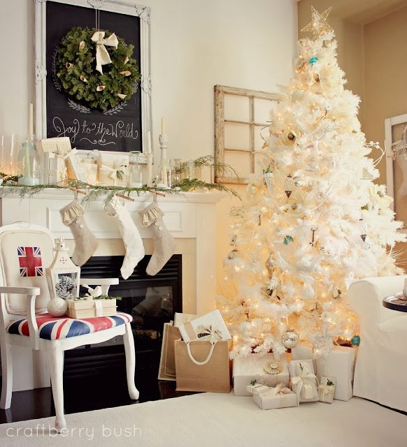 farmhouse style christmas mantels at the everyday home - Pictures Of Mantels Decorated For Christmas