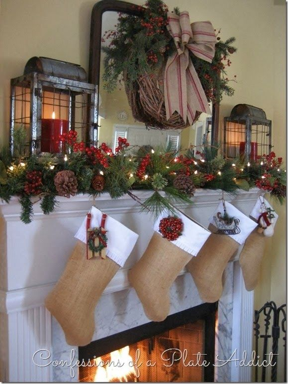 Farmhouse Christmas Mantels at The Everyday Home