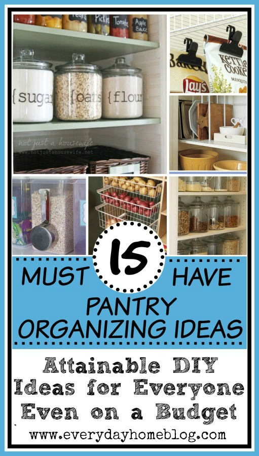15 Must Have Pantry Organizing Ideas   The Everyday Home   www.everydayhomeblog.com