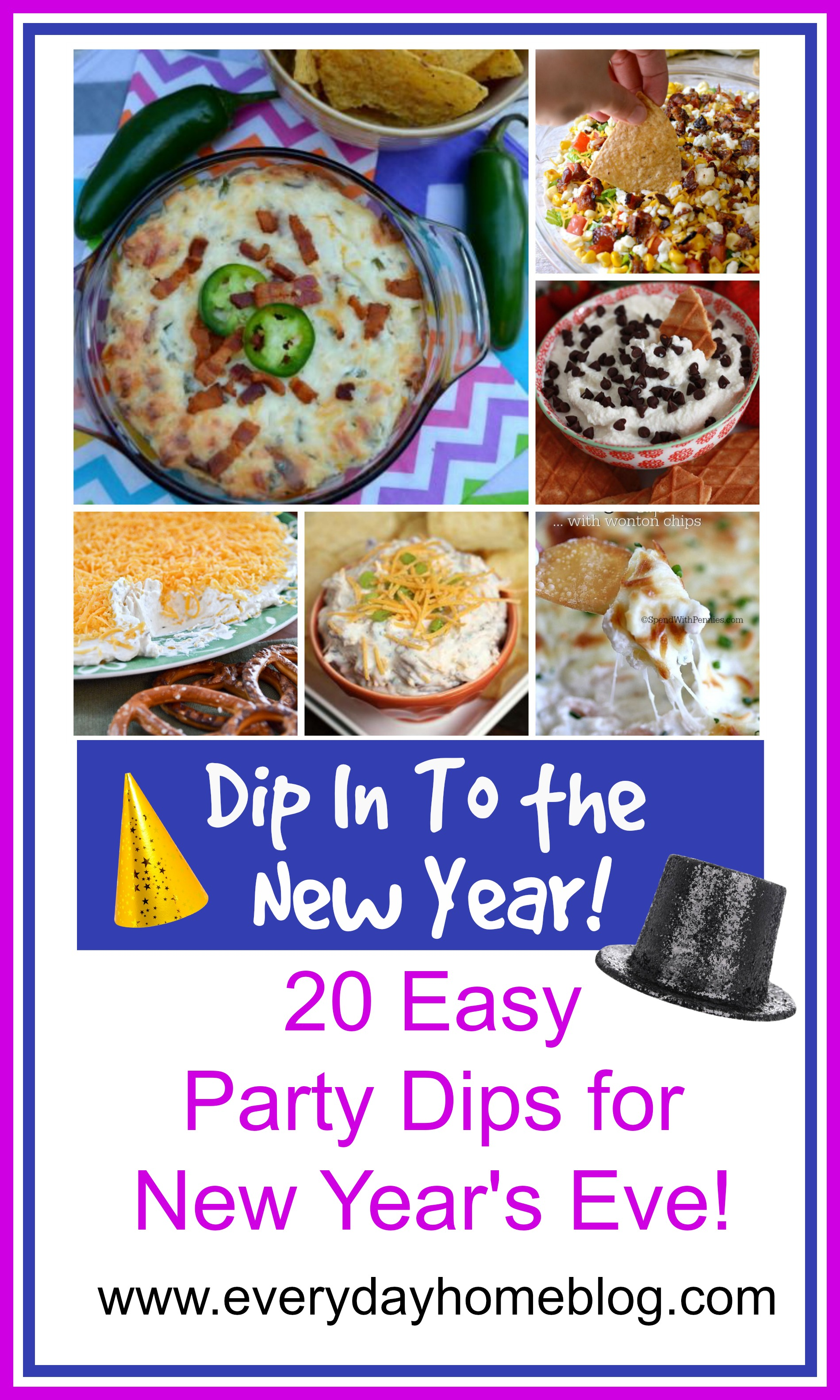 20 Great Dips for New Years by The Everyday Home