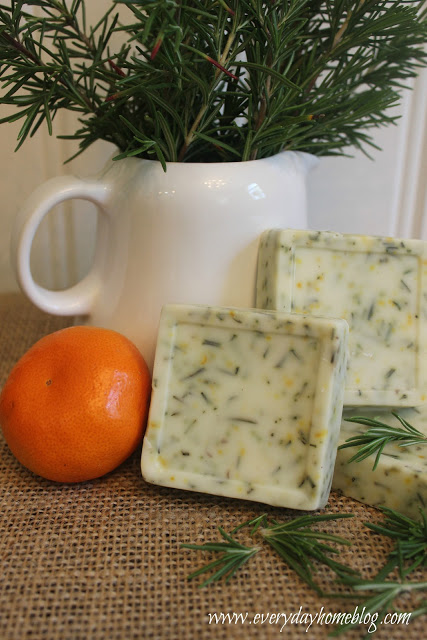 Rosemary Citrus Goats Milk Soap | The Everyday Home | www.everydayhomeblog.com