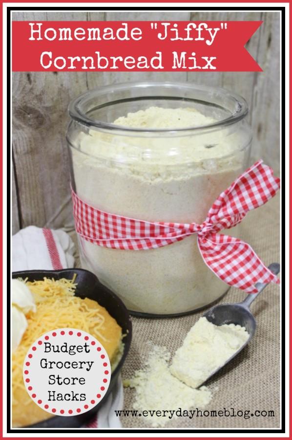 Homemade Jiffy Cornbread Mix by The Everyday Home #kitchenhack #homemade #DIY #recipe