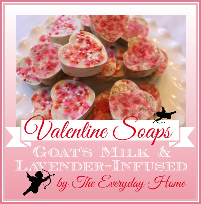 Heart Shaped Lavender Infused Goats Milk Soap | The Everyday Home | www.everydayhomeblog.com