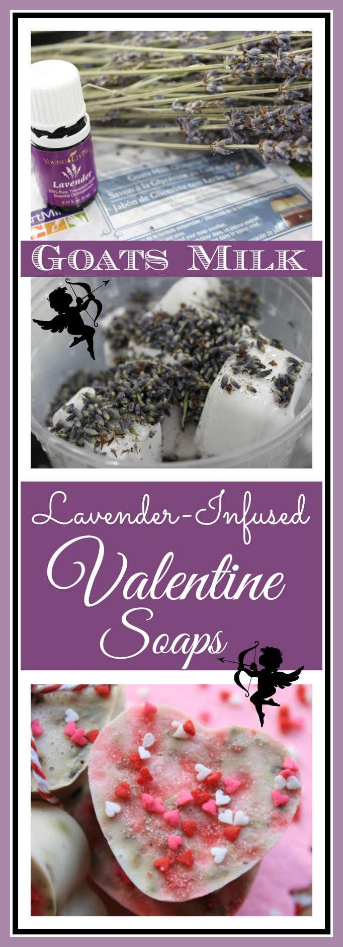 How to Make Heart Shaped Lavender Infused Goats Milk Soap | The Everyday Home | www.everydayhomeblog.com