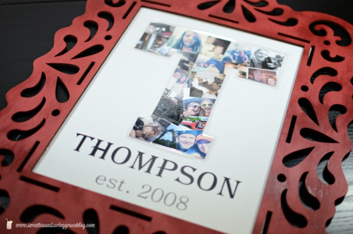 Family Photo Collage Art {Guest Post} at The Everyday Home  #DIY  #Craft
