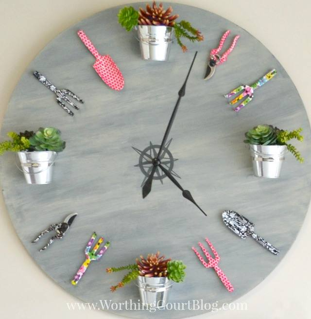 How to Make a Faux Garden Clock - Worthing Court Blog- Inspired by Spring Blog Hop at The Everyday Home