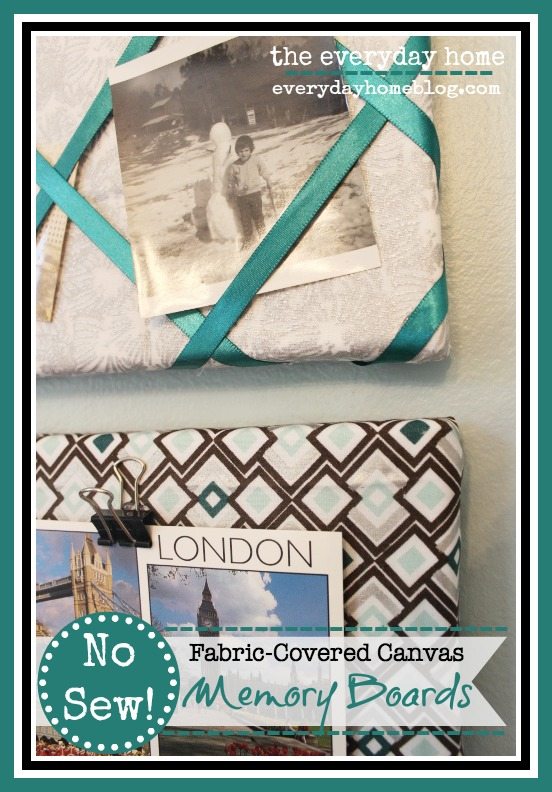 No Sew Fabric Covered Memory Boards by The Everyday Home