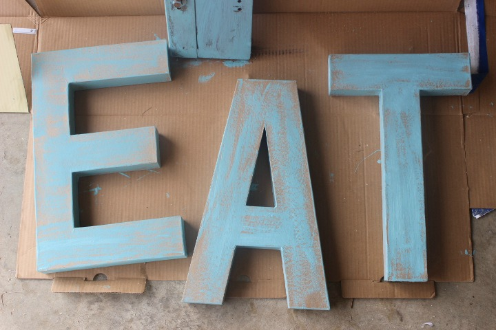 How to Create Distressed Wood-Look Letters in Two Easy Steps by The Everyday Home Blog