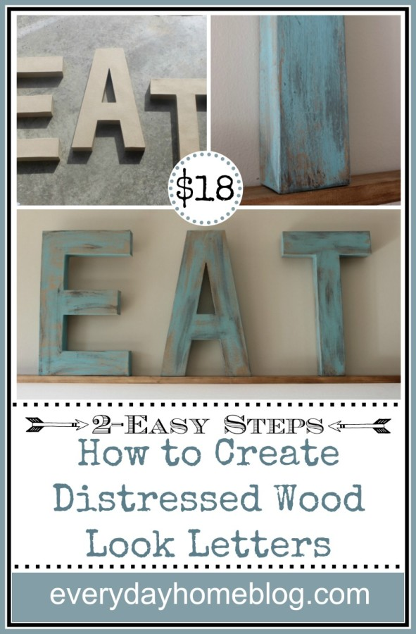 How to Create Distressed Wood Look Letters in