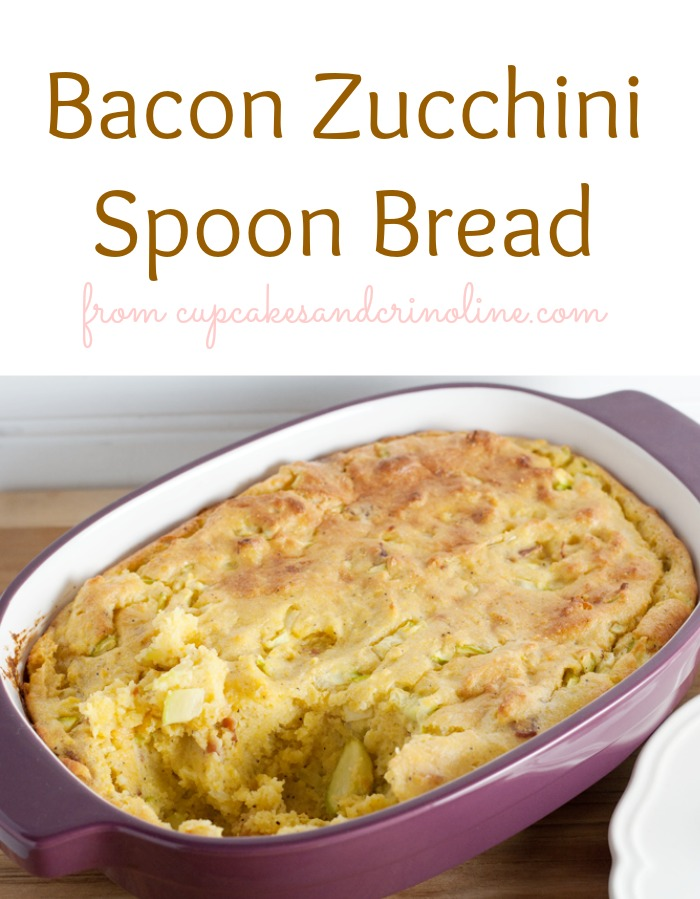 Baked Zucchini Spoon Bread by Cupcakes and Crinoline {Guest Post} at The Everyday Home / www.everydayhomeblog.com