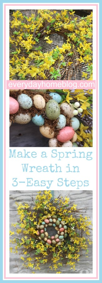 Easy Spring Wreath in 3-Steps by The Everyday Home / www.everydayhomeblog.com