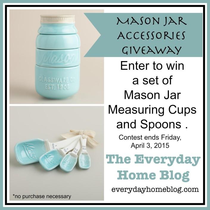 Mason Jar Accessories Giveaway at The Everyday Home Blog / www.everydayhomeblog.com