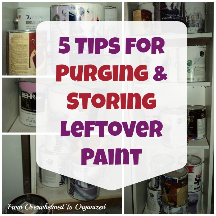 5 Easy Tips to Organizing Leftover Paint | The Everyday Home