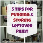 5 Tips to Organizing Leftover Paint