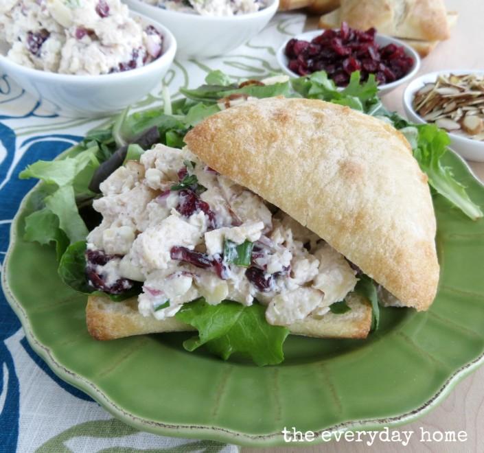 Deli Style Chicken Salad Recipe by The Everyday Home / www.everydayhomeblog.com #Recipes #Homemade