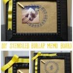Stenciled Memo Board