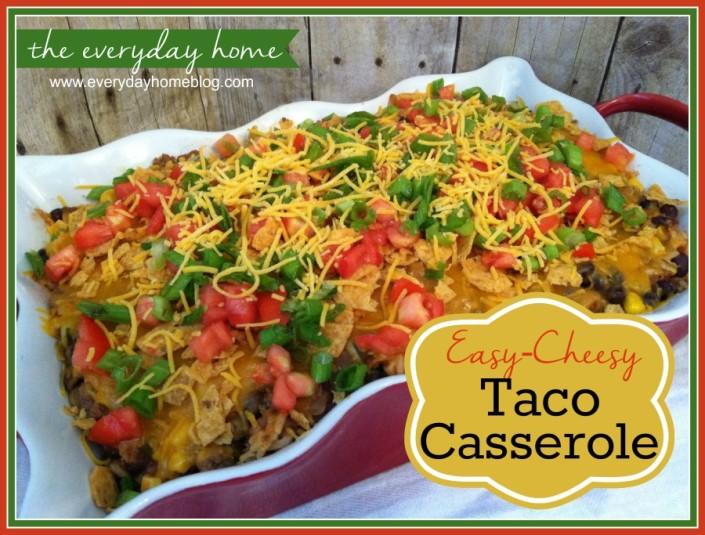 Easy Taco Casserole by The Everyday Home / www.everydayhomeblog.com
