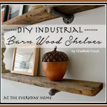 DIY Barn Wood Shelves