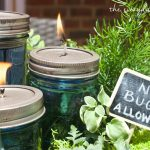 DIY Citronella Mason Jar Candles