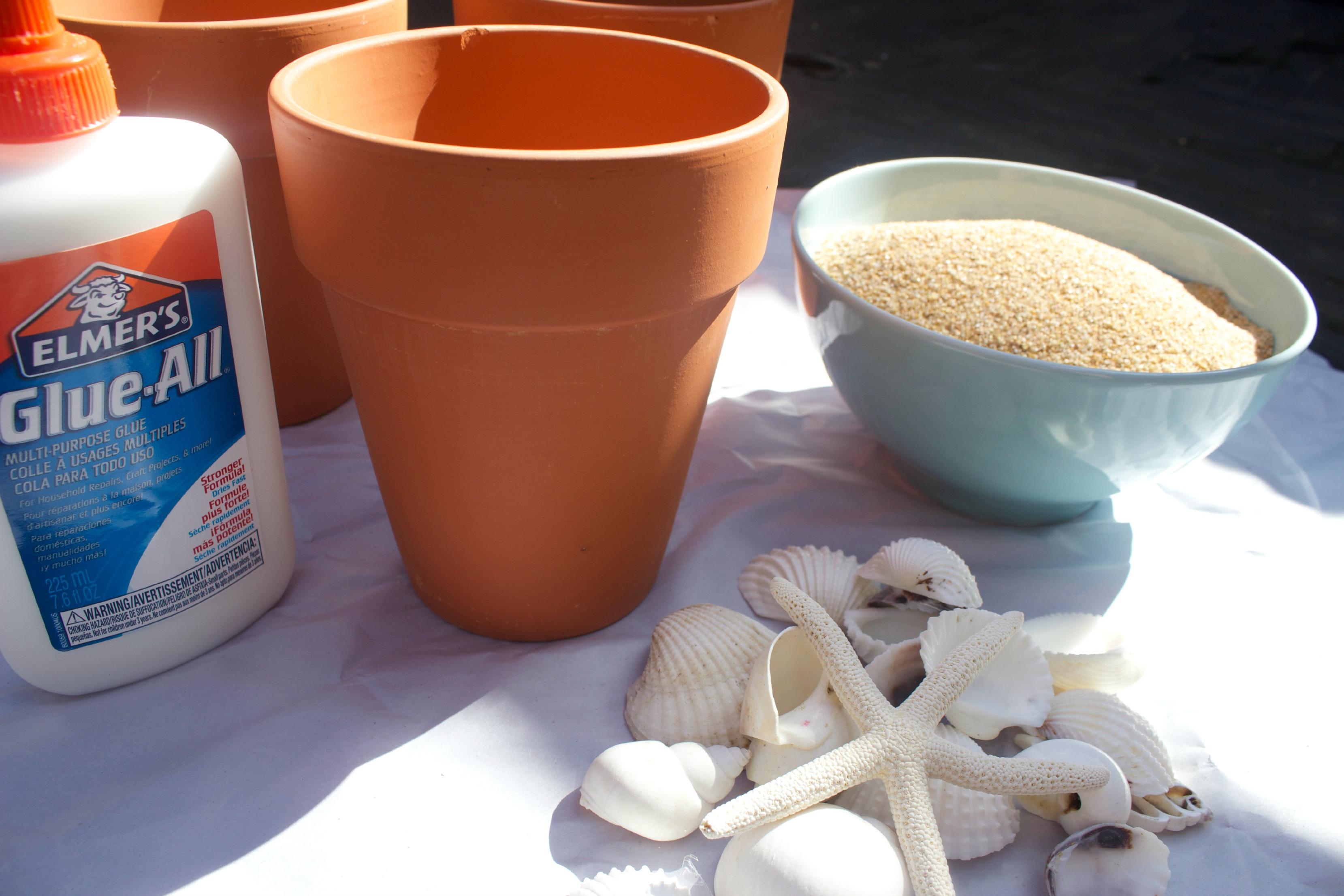 Sand Pot Supplies  The Everyday Home  www.everydayhomeblog.com