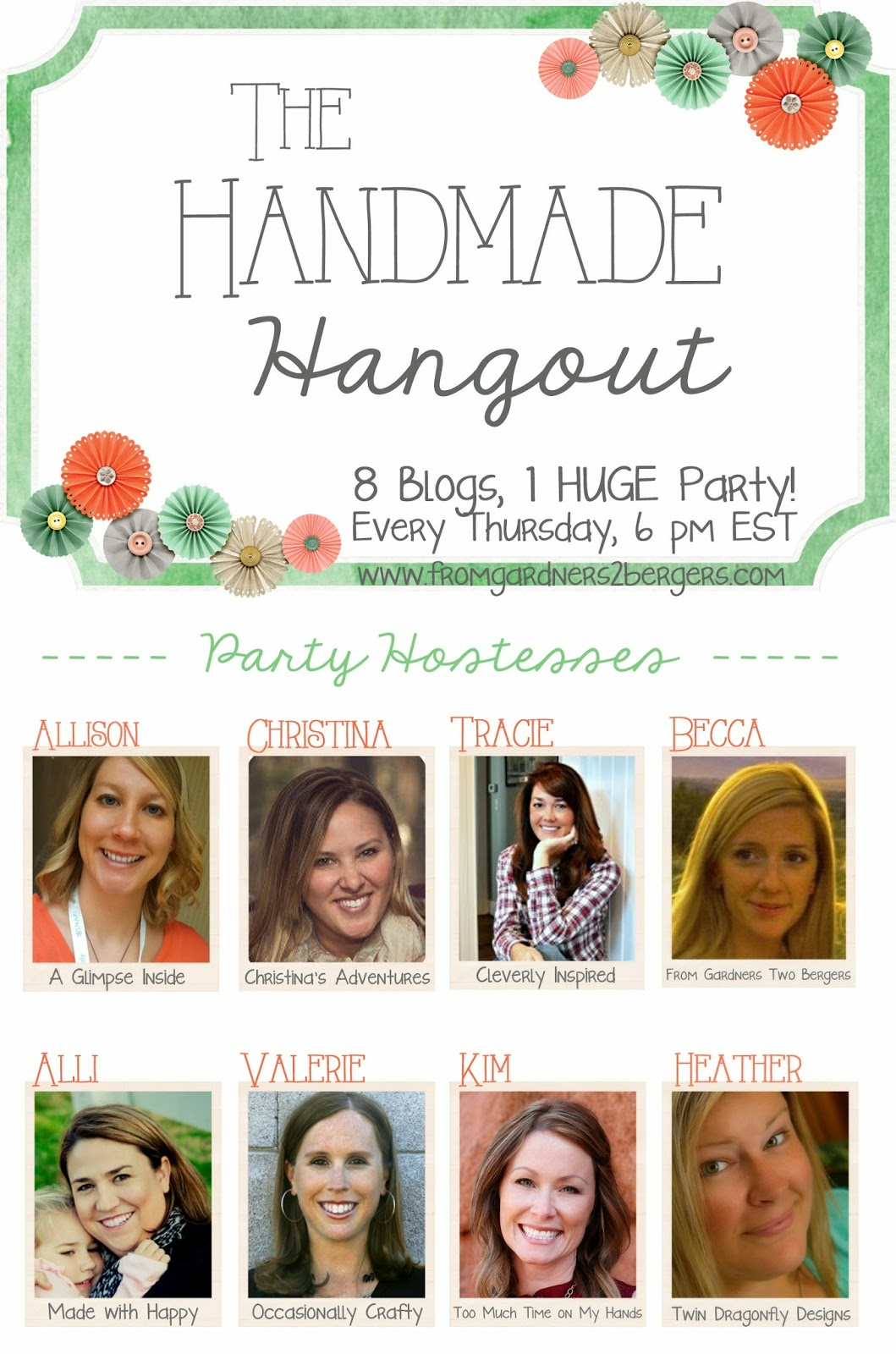 handmade hangout- logo with hostesses FG2B