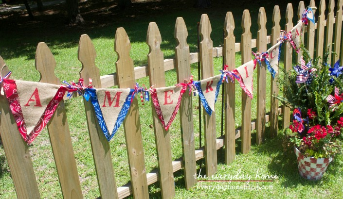 America Burlap Banner  The Everyday Home   www.everydayhomeblog.com