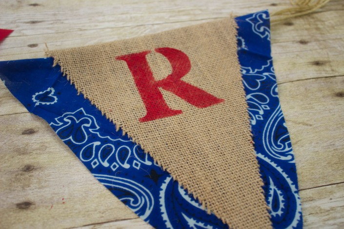 Burlap and Bandana Pennant