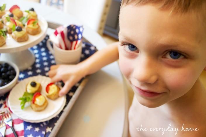 Devin Eating Dessert by The Everyday Home  www.everydayhomeblog.com