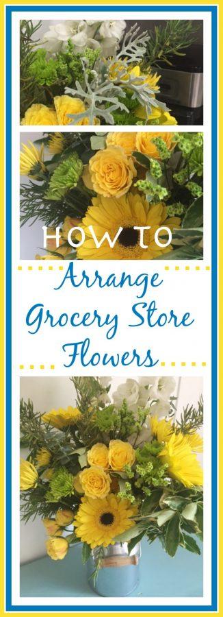 Grocery Store Flower Arranging  The Everyday Home  www.everydayhomeblog.com