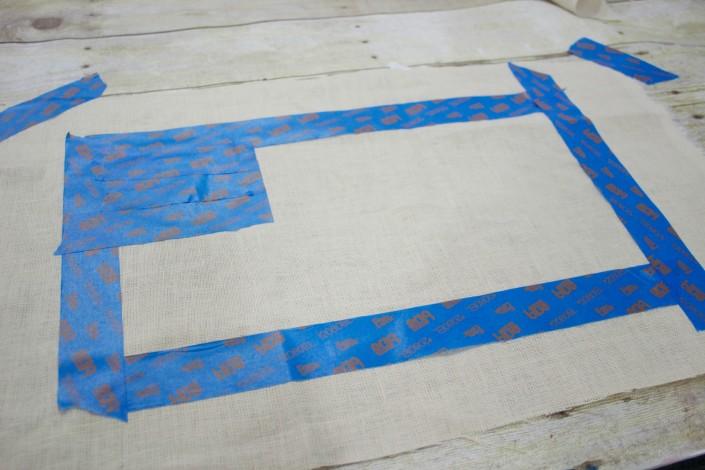 How to Prepare Fabric to Stencil