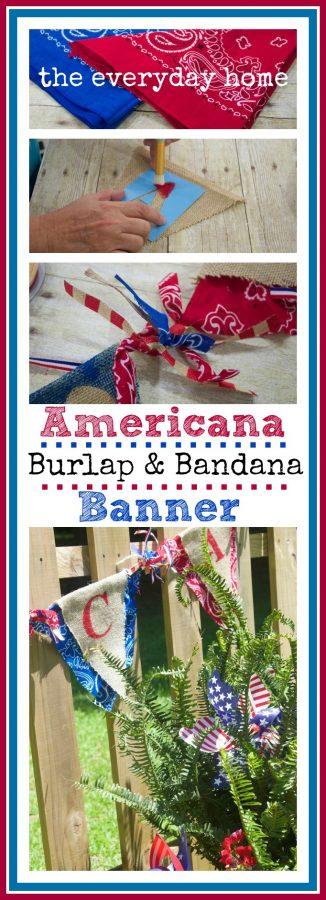 July 4th Burlap Bandana Banner